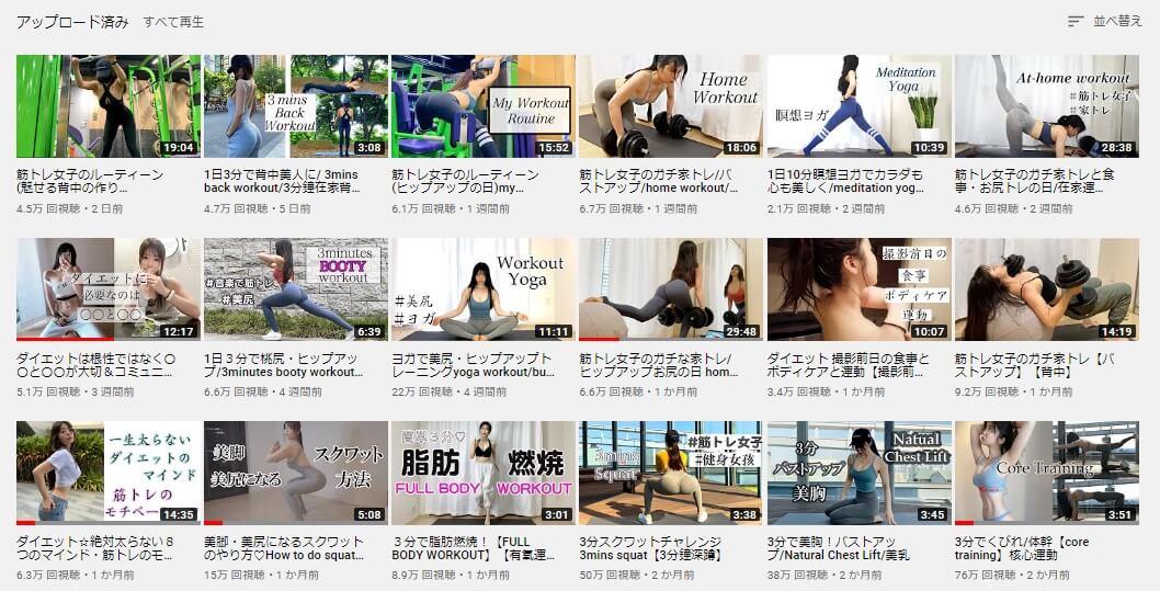 動画コンテンツのバリエーション