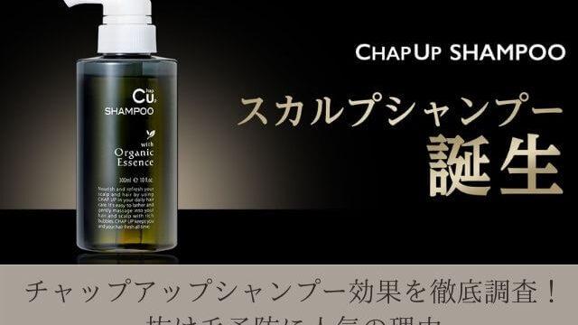 チャップアップシャンプー効果を徹底調査! 抜け毛予防に人気の理由